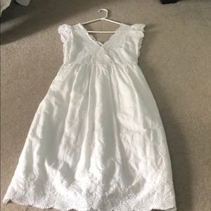 White long eye lit dress